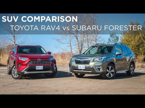SUV Comparison | 2019 Toyota RAV4 vs 2019 Subaru Forester | Driving.ca
