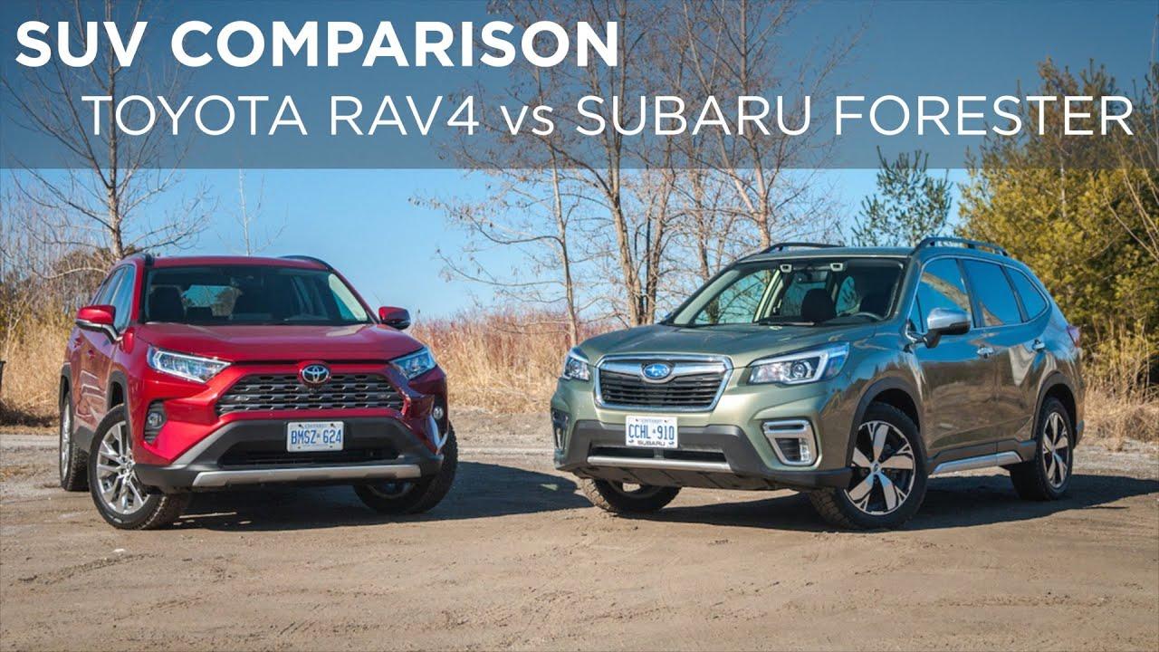 SUV Comparison: 2019 Subaru Forester vs  2019 Toyota RAV4 | Driving