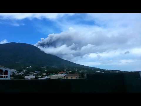 gamalama mountain eruption timelapse