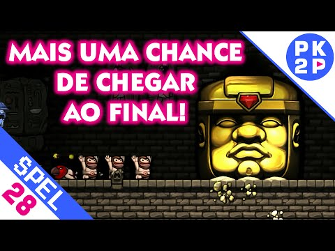 Mais uma chance de chegar ao FINAL (?) Spelunky #28 - Multiplayer Local