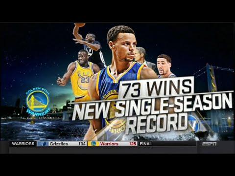 Warriors (73-9) 2015-16 Season: Game 82 vs Grizzlies