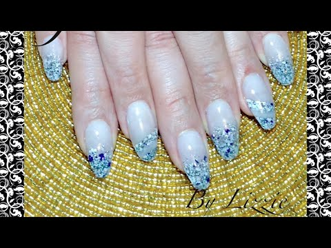 Glamorous Acrylic Nails (with granite Acrylic effect)