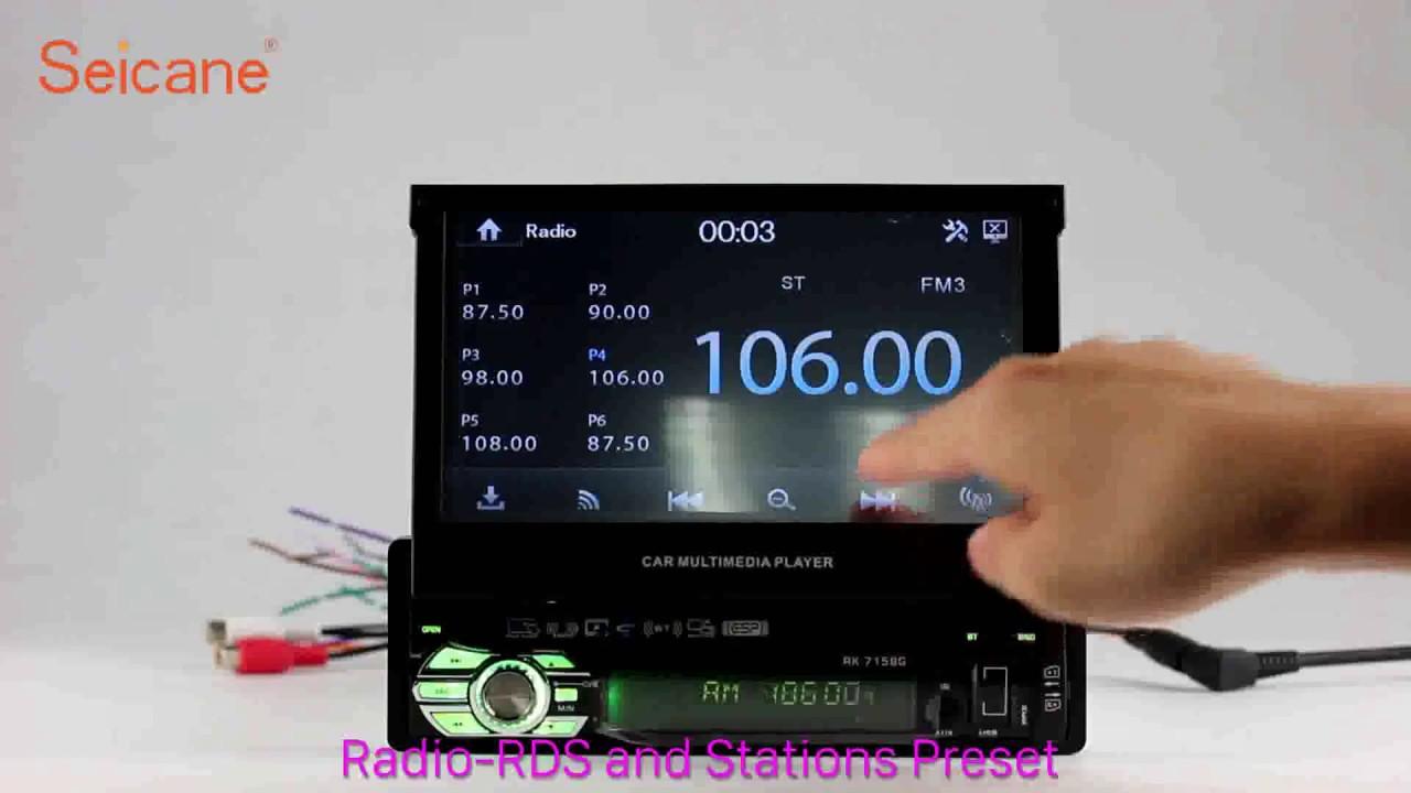 hight resolution of 1 din universal radio gps navigation support mp5 bluetooth music digital tv