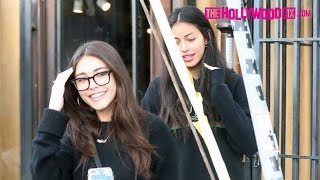Madison Beer & Cindy Kimberly Gossip & Girl Talk Over Lunch At Alfred's On Melrose Place 12.31.18