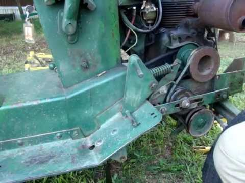 john deere 110 Garden Tractor mower clutch intermediate drive assembly