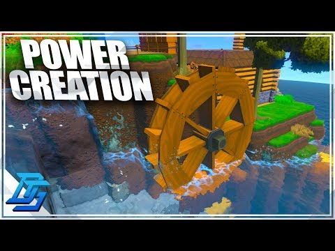 POWER CREATION THROUGH WATER WHEEL & WINDMILL ! - ECO Global Survival - Pt.4