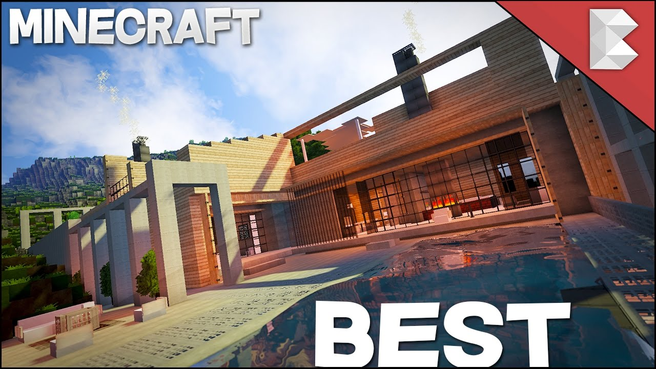 Minecraft best modern house 2017 youtube for Home architecture you tube