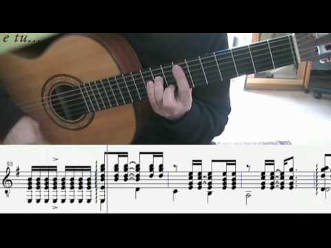 E tu... di Claudio Baglioni - cover per chitarra sola (con spartito)