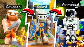 Minecraft BUT You TIME TRAVEL Every Minute!