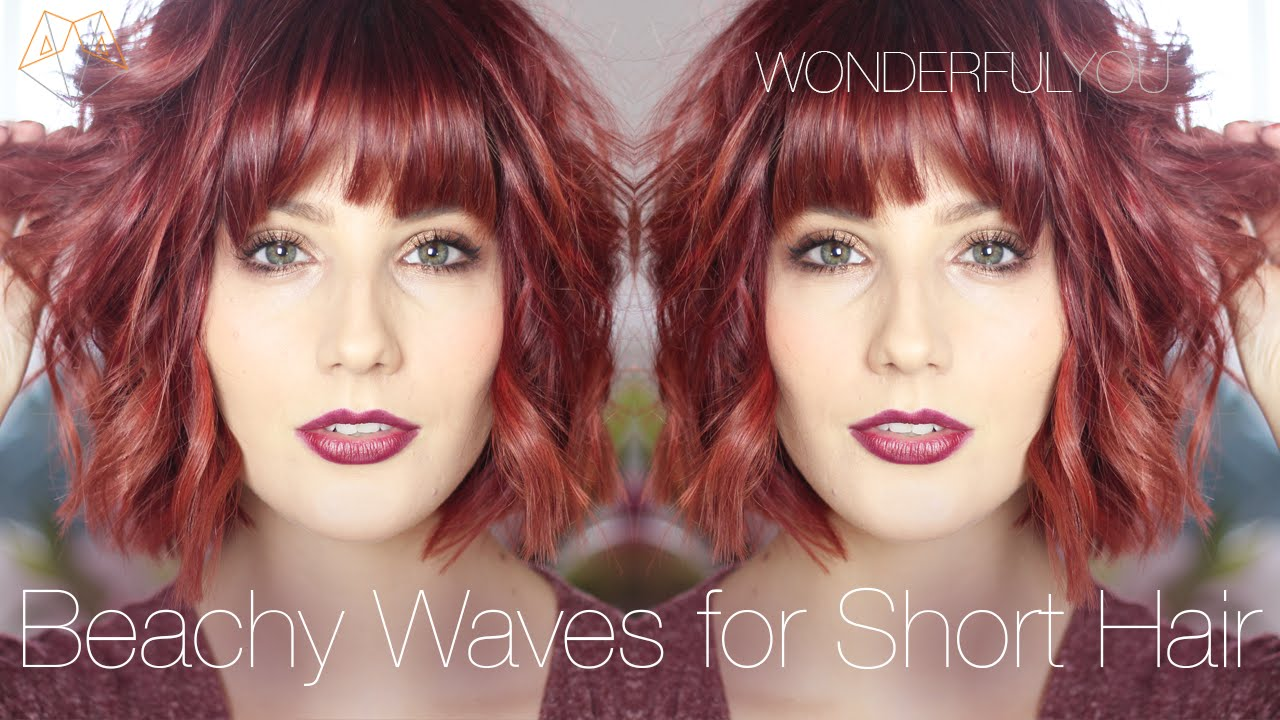 Hair Styles For Short Hair Beachy Waves With Ghd S Wonderful You Youtube