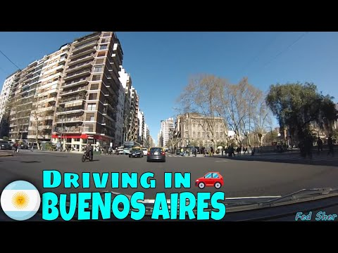 Driving in Buenos Aires (from Saavedra to Recoleta)