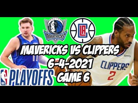 Dallas Mavericks vs Los Angeles Clippers Game 6 6/4/21 NBA Playoff Free NBA Pick & Prediction