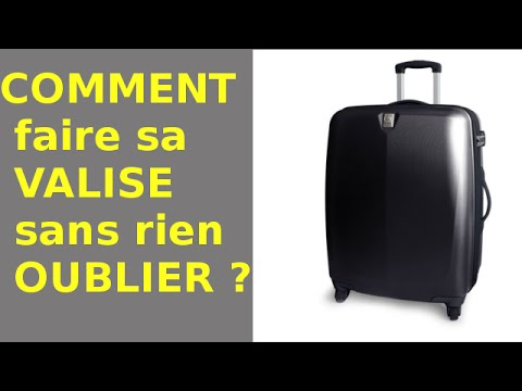 comment faire sa valise sans rien oublier youtube. Black Bedroom Furniture Sets. Home Design Ideas
