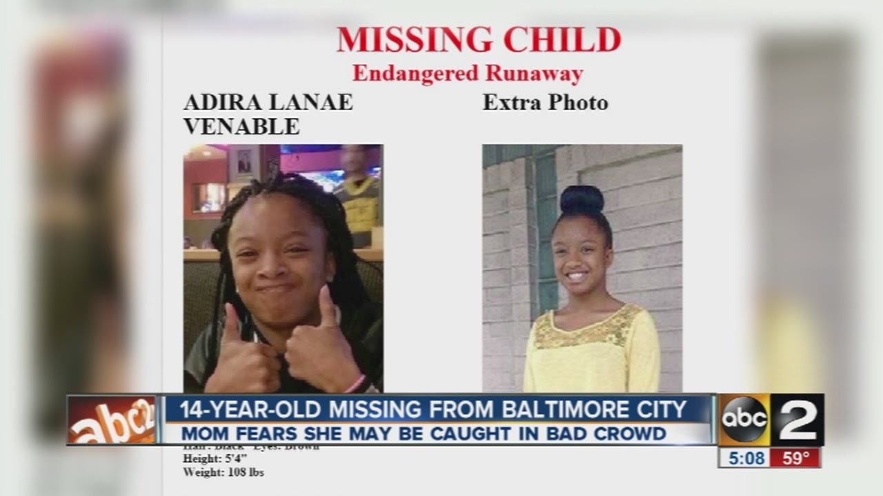 Baltimore Police Searching For Missing 14 Year Old Girl Please Share Youtube