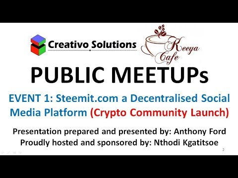 Steemit is a Decentralised Social Media Platform - Crypto Community Education Event part 1