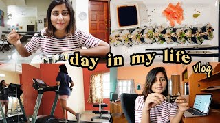 A day in my life at home 🏡 making sushi, amazon haul & driving around Vellore! #KritikaVlogs