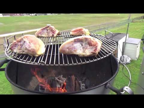 """""""Poor Man's""""  Santa Maria Grill/Wood Fired Open Pit Style BBQ on Weber Kettle"""