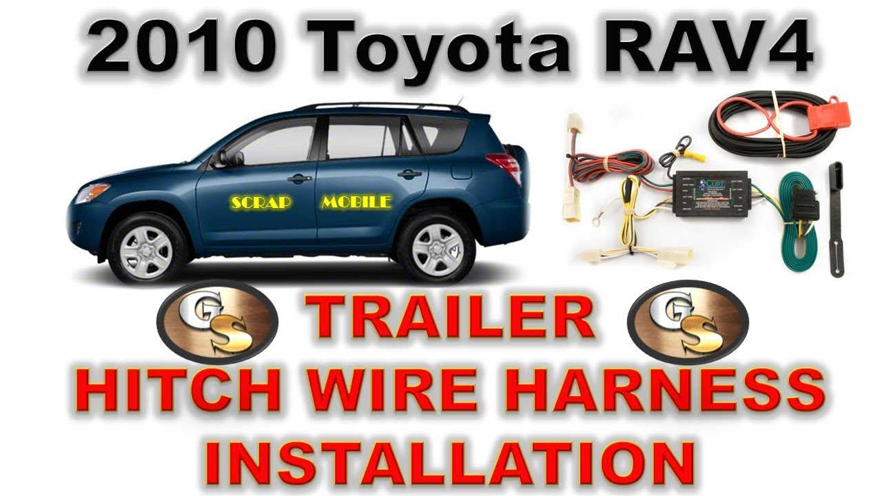 2010 Toyota Rav4 Trailer Wire Harness Real Wiring Diagram Hitch Install For The Scrapping Rh Youtube Com 2012