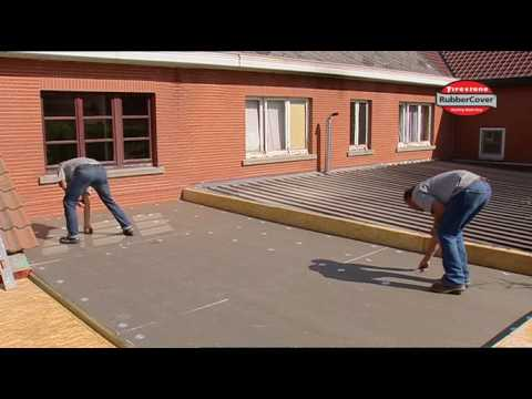 waterproofing a flat roof with firestone epdm rubber roof membrane youtube - Rubberised Roof Membrane
