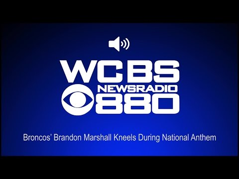 Broncos' Brandon Marshall Kneels During National Anthem (Audio)