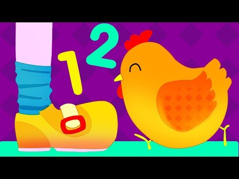 One Two Buckle My Shoe Song for Kids  Learn to Count 1 2 3 with Lyrics