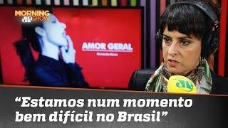 """""""Estamos vivendo um momento bem difícil no Brasil"""", diz Fernanda Abreu sobre eleições"""