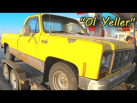 DRIVING 700 MILES TO BUY A 1977 CHEVROLET C-10 | Square Body Project - Mike Is WAY Too Excited