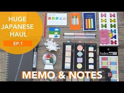 Japan Stationery Haul Ep. 1 Sticky Notes & Memo | SpottedJournal
