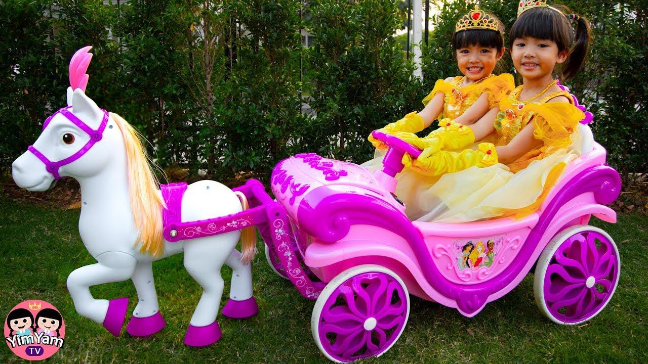 หนูยิ้มหนูแย้ม | รถม้าเจ้าหญิง Pretend Play with Princess carriage