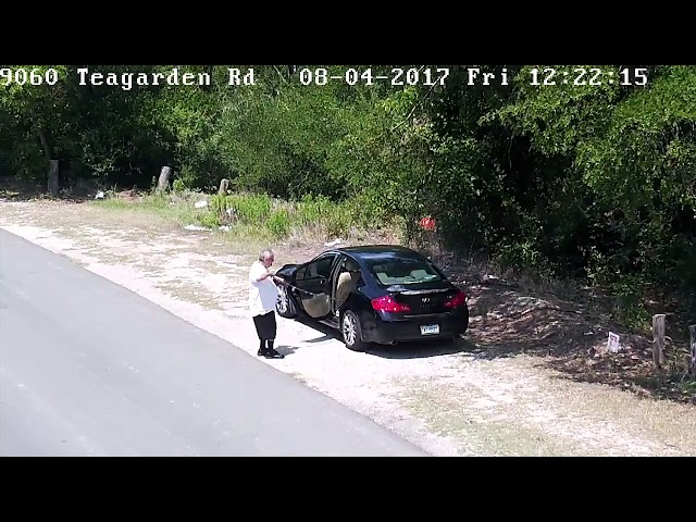 Raw: Surveillance video shows man abandoning dog in southern Dallas