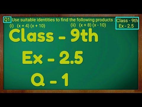 Class - 9th, Ex - 2 5, Q 1 (POLYNOMIALS) Maths NCERT CBSE