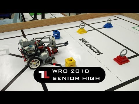 "WRO 2018 Senior High ""Food Distribution"" finish 1 set (60 point)"