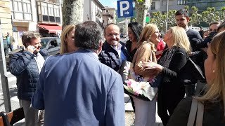 Tensión en un acto del PP con Cayetana Álvarez de Toledo en Etxarri-Aranatz