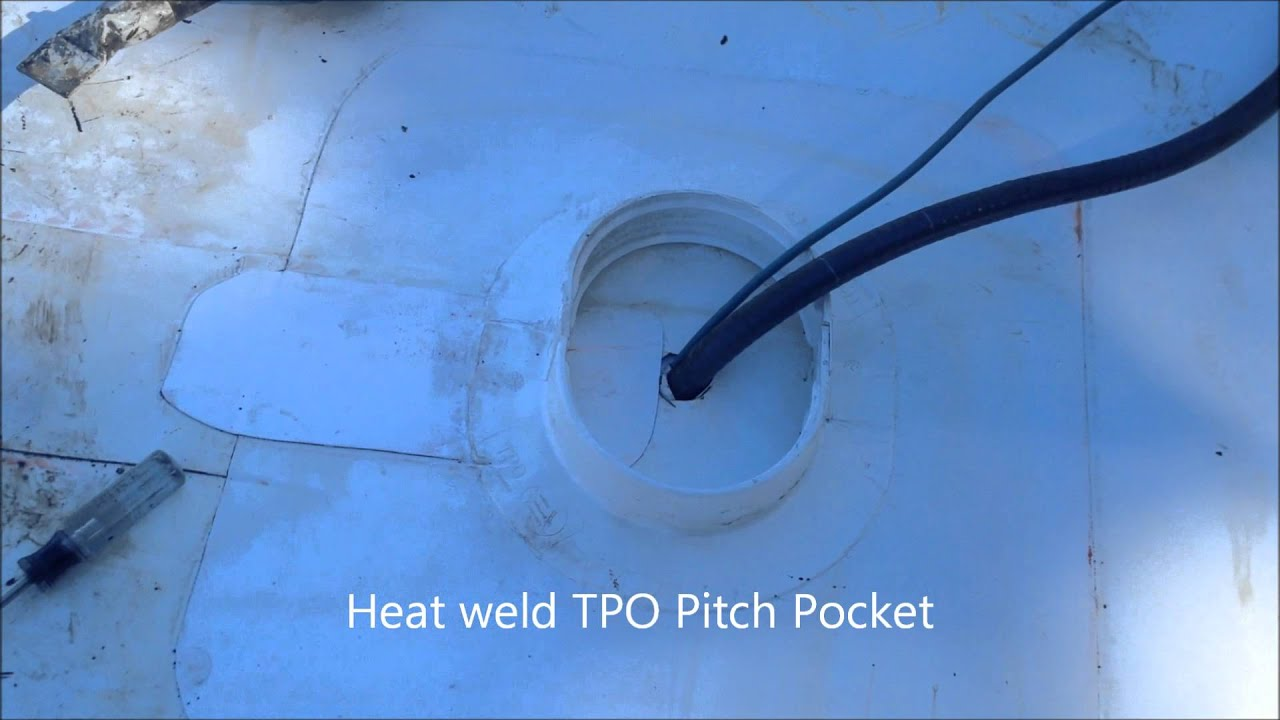 How to install pitch pocket on TPO roof