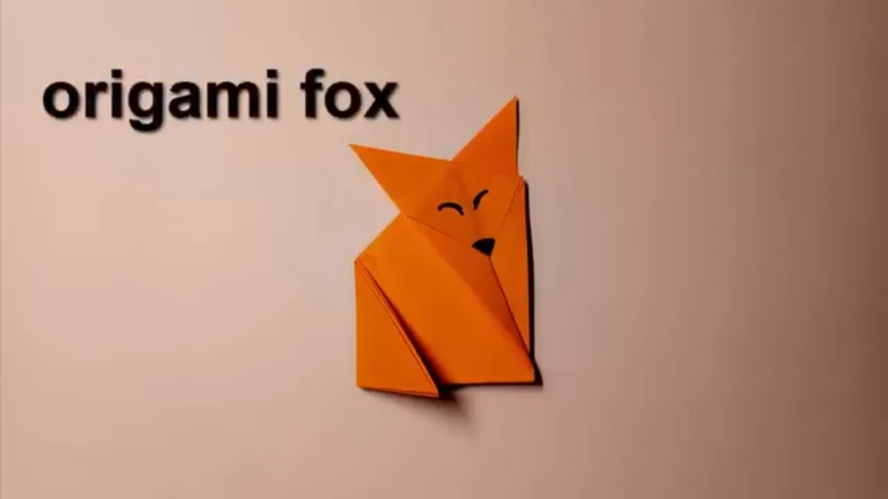 Origami foxhow to make a paper foxeasy diy paper fox for kid origami foxhow to make a paper foxeasy diy paper fox for kidcute diy you need see jeuxipadfo Image collections