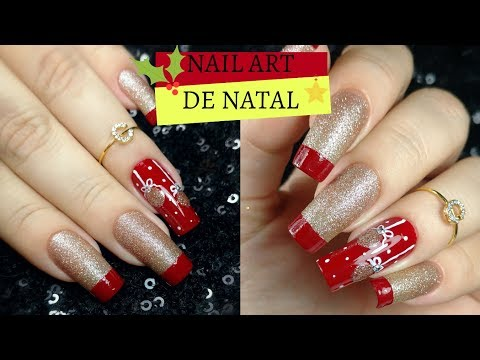 UNHA DECORADA DE NATAL SUPER FÁCIL COM INGLESINHA VERMELHA| Nail Art for Christmas #UNHASDENATAL2018