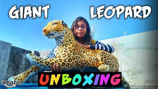 Giant Leopard Soft Toy Unboxing | Animal Soft Toy Unboxing | Wild Animal Soft Toy Unboxing Amazon