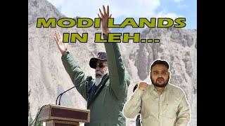 Modi Lands In Leh