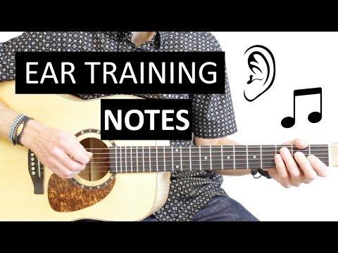 Exercices Apprendre à Reconnaitre d'Oreille des Notes EAR TRAINING Guitare Gamme Do Majeur