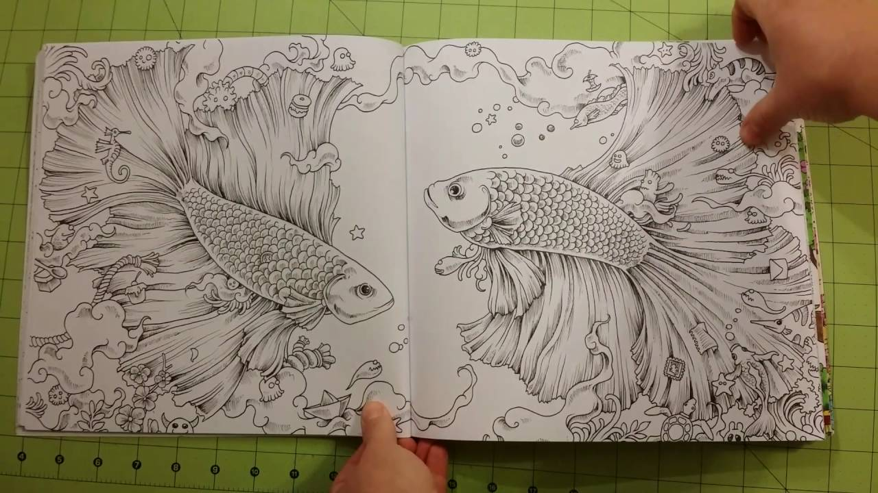 The Animorphia Kerby Rosanes Review Flip Through Adult Coloring Book