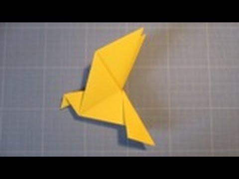 Comment r aliser une colombe en papier origami youtube - Comment realiser une video ...