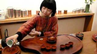 Tea scholar Didi Liu demonstrating Chinese Gong Fu tea ceremony thumbnail