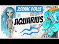 AQUARIUS DOLL -  ZODIAC MONSTER HIGH DOLL REPAINT by Poppen Atelier / Episode #1 #dolls # art