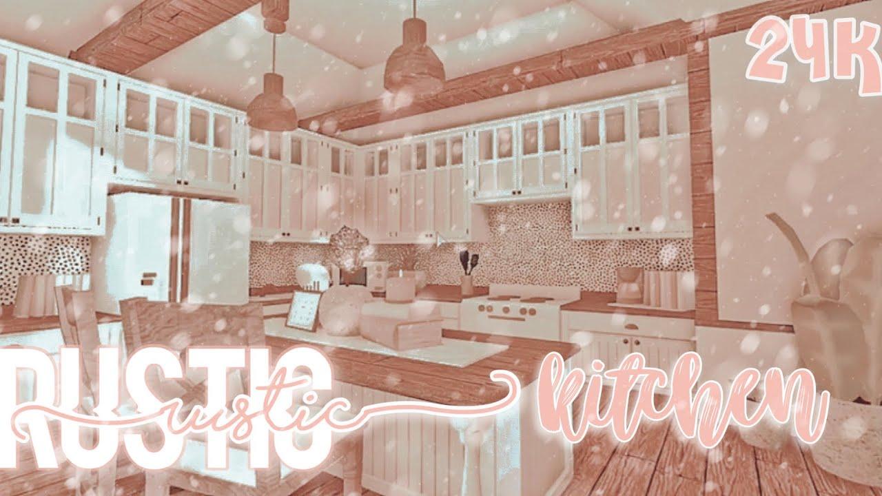 Rustic Aesthetic Kitchen Speedbuild Welcome To Bloxburg Youtube