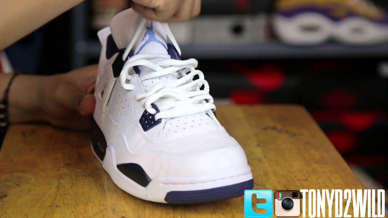 3ba7075be23 How To Lace Jordan 4s IV (2 Styles) - YouTube