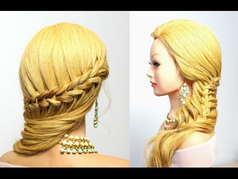 Hairstyle for long hair: Scissor Waterfall & Mermaid Braids