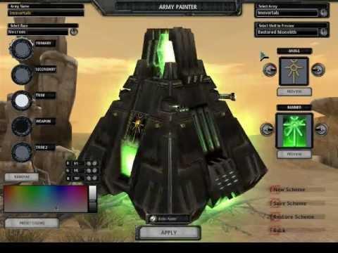 Soulstorm Mods Titanium Wars Necron Units Showcase