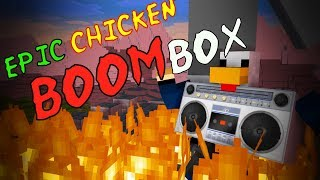Monster School : Epic chicken BOOMBOX - Minecraft Animation
