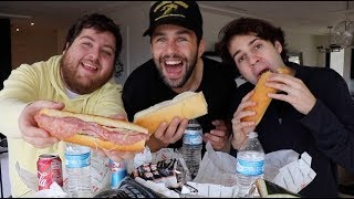 JIMMY JOHNS MUKBANG ft DAVID DOBRIK AND JONAH!!