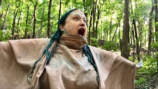 How to dye your hair & eyebrows blue in a forest